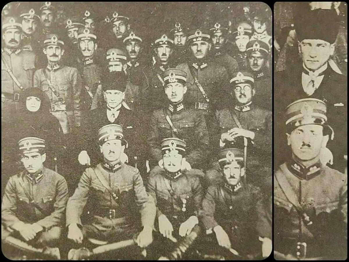 M.Kemal Paşa'nın önünde oturan kişi, daha sonraları Genelkurmay Başkanı ve 5.Cumhurbaşkanı olacak olan Cevdet Sunay. Kayseri'de 14 Ekim 1924'te çekilen bu fotoğrafta, Atatürk'ün solunda eşi Latife Hanım ve sağında dönemin 41'inci Tümen Komutanı Albay Cemil Cahit Toydemir yer alıyor.