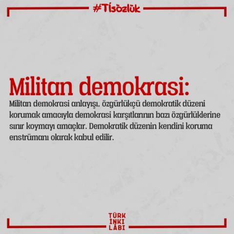 Militan demokrasi nedir?